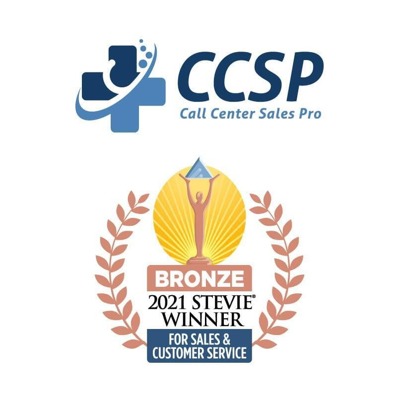 Call Center Sales Pro Wins Bronze Stevie® Award in 2021 for Sales & Customer Service